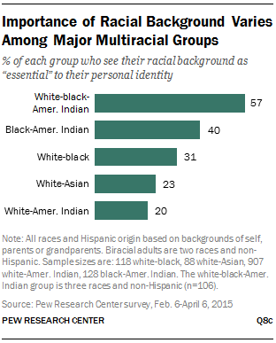 Importance of Racial Background Varies Among Major Multiracial Groups