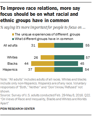 To improve race relations, more say focus should be on what racial and ethnic groups have in common