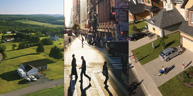 Similarities and differences between urban, suburban and ...